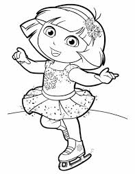 Coloring Pages Dora Dance Printable Images