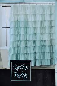 Tommy Hilfiger Curtains Special Chevron by Amazon Com Cynthia Rowley Blue Aqua Ruffled Tiers Fabric Shower