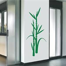 details zu wandtattoo wandaufkleber bambus schilf pflanze asia flur wohnzimmer 109