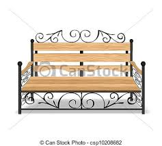 Classical park bench vector illustration Classical park