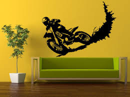 motocross wall sticker racing stunt dirt bike biker pvc wall