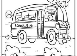 Transportation Coloring Page School Bus