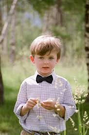 Ring Bearer With Black Bowtie And Lilac Gingham Button Up Shirt Photo By Carrie Patterson