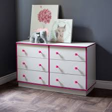 White 3 Drawer Dresser Walmart by South Shore Logik 6 Drawer Double Dresser White And Pink