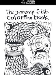 Upper Playground Jeremy Fish Coloring Book X Our Latest Snapbacks Release