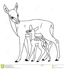 Vector Deer With Baby Deer stock vector Illustration of reindeer