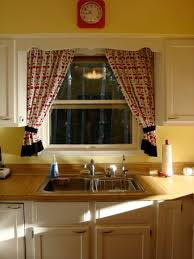 innovation kitchen curtains over sink window treatment the