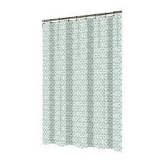 Shop allen roth Polyester Aqua Patterned Shower Curtain at Lowes
