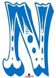 Glossy Blue Paint Letter N Uppercase Stock Illustration 598569086