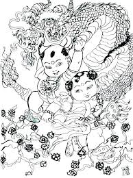 Coloring Pages For Dragons Free Printable Dragon Chinese Simple Col Zodiac Signs