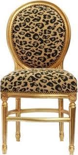 barock esszimmer stuhl leopard mod2 gold rund
