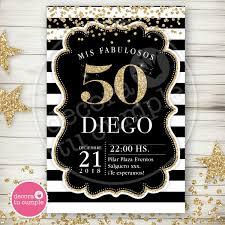 Kit Imprimible Adultos 40 50 60 Años Negro Dorado Hombre