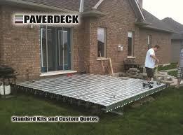 paverdeck 10 x 14 steel deck frame kit at menards