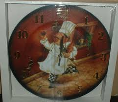 Fat French Chef Kitchen Curtains by Chef Kitchen Clock 675 Latest Decoration Ideas