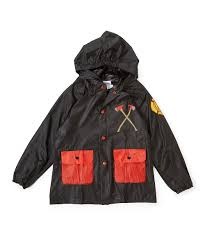 LILLY Of NEW YORK Black Fire Truck Rain Jacket - Infant & Toddler ...