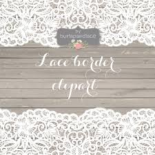 Vector Lace Border Rustic Wedding Invitation Frame Clipart White Shabby Chic Vintage