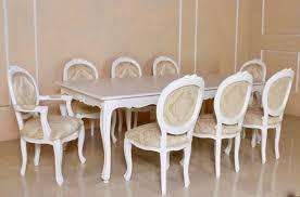 barock esszimmer garnitur lilika antik weiß 1 tisch mit 8 stühlen