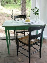 Vintage Metal Top Kitchen Table With Green Frame 17500 Via Etsy
