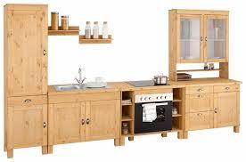 home affaire küchenzeile oslo ohne e geräte breite 350 cm 35 mm starke durchgehende arbeitsplatte aus massiver kiefer mit metallgriffen