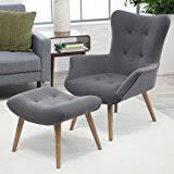 Hans Wegner Papa Bear Chair Replica by Amazon Com Papa Bear Chair W Ottoman Charcoal Grey Wegner
