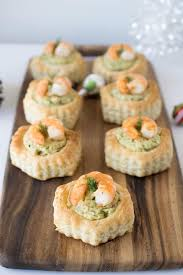 puff pastry canape ideas shrimp avocado puff pastry shells