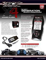New Release - SCT X4 Power Flash Programmer | Performance Auto Parts ...