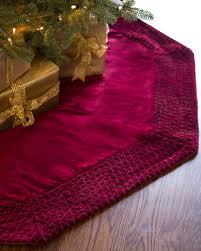72 Inch Gold Christmas Tree Skirt by Florentine Quilted Velvet Tree Skirt Balsam Hill