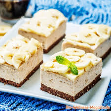 leichter low carb bananen frischkäse kuchen ohne backen