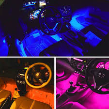 Car LED Strip Interior Lights Black