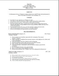 Veterinary Technician Resume Examples Assistant Summary
