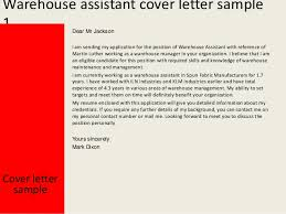 Warehouse Assistant Cover Letter Add Photo Gallery Manager