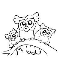 Baby Owl Coloring Pages Cute Printable