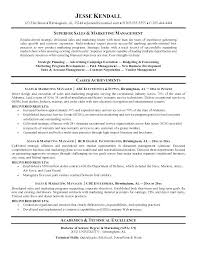 Sales And Marketing Sample Resume Job Manager