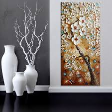 Handmade Abstract Wall Art Pictures Thick Pallete Knife Oil Inside Long Decorations 11