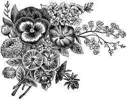 Best Ve able Garden Black And White Flower Garden Clip Art Black