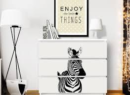 wandtattoo zebra passend für ikea hemnes und w5238