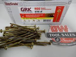 Grk 10 Cabinet Screws by Rss Rugged Structural 5 16 U2033 X 6 U2033 Lag 300 Grk Dw Tool Sales