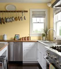 Kitchen Decoration Wall Color For White Cabinets With Copper Canister Set Vintage And Small Terracotta