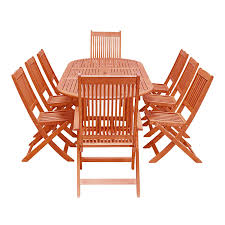 Shop Eco-Friendly 9-Piece Wood Outdoor Dining Set With Oval ... Forest Rosedene 8 Seater Wooden Garden Table And Chairs Ding Set Buy New Pacific Direct 1020003196 Devana Accent Chair Natural Legs Green Plastic Porch Recling Armchair With High Back The Top Outdoor Patio Fniture Brands Ecofriendly 7piece Wood With Oval Extension Deep Log Other Black Cabana Home Patio Ding Set 5 Piece Cushions Bistro Forest Armchair From Fast Architonic Archiexpo Emagazine For A Gathering 10 Best Garden Benches Ipdent