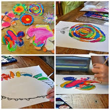 Giant Painted Paper Flowers