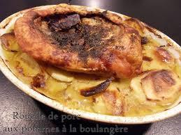 cuisiner la rouelle de porc rouelle de porc aux pommes a la boulangere recettes voyageuses