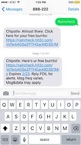 SMS Autoresponder Example: Chipotle Offers Rain Check On Lunch   Tatango This New Chipotle Rewards Program Will Get You The Free Guac Gift Card Promotion Toddler Lunch Box Ideas Daycare Teacher Appreciation Week Deals 2018 Chipotle Wii U Coupons Best Buy Discounts Offers Rebelcard University Of Nevada Las Vegas Mexican Grill Posts Facebook Clever Trick Can Save You Money On Wikibuy Sms Autoresponder Example Rain Check Lunch Tatango Chipotles Burrito Coupon Uses Save To Android Pay Button Allheart Code Archives Wish Promo Code Smoky Chicken In The Crockpot Money Saving Mom Pin By Nick Good Print Ads I Like How To A For 3