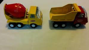 Vintage TONKA Small Dump Truck Pressed Steel/Metal Vehicle & Cement ...