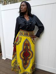 african print yellow wrap around skirt u2013 glam up