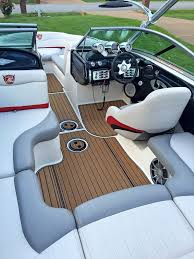 Bayliner 190 Deck Boat by New Age Synthetic Teak Deck Boat Materials High Tech Boat Decking