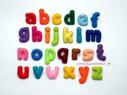 LOWER CASE Felt Magnet ALPHABET Felt Alphabet Felt Letters