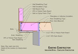 Distance Between Floor Joists Canada by Insulation Where Floor Joists Overhang Foundation Terry Love