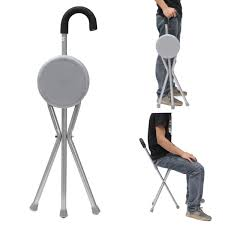 Outdoor Travel Folding Stool Chair Portable Tripod Cane Walking ... Amazoncom Yunhigh Mini Portable Folding Stool Alinum Fishing Outdoor Chair Pnic Bbq Alinium Seat Outad Heavy Duty Camp Holds 330lbs A Fh Camping Leisure Tables Studio Directors World Chairs Lweight Au Dropshipping For Chanodug Oxford Cloth Bpack With Cup And Rod Holder Adults Outside For Two Side Table
