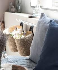 ib laursen korb mit henkel natur schwarz rund h 20cm aufbewahrungs deko hängen