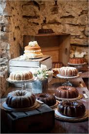 Rustic Chic Bundt Cake Dessert Table